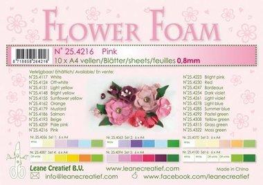 LeCrea - Flower Foam A4 roze 0.8mm