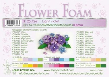 LeCrea - Flower Foam A4 licht paars 0.8mm