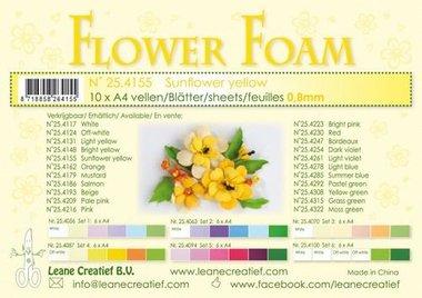 LeCrea - Flower Foam A4 zonnebloemgeel 0.8mm