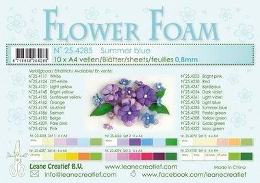 LeCrea - Flower Foam A4 zomer blauw 0.8mm