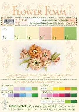 LeCrea - Flower Foam assort. 3, 6 vel A4 zalm 0.8mm