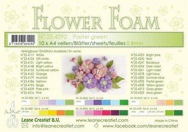 LeCrea - Flower Foam A4 pastel groen 0.8mm