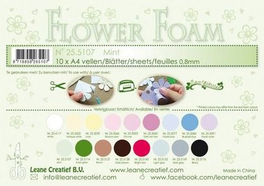 LeCrea - Flower Foam A4 0,8mm mint