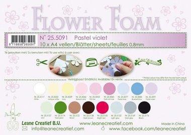 LeCrea - Flower Foam sheets A4 0,8mm pastel violet