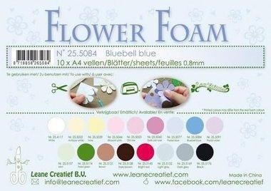 LeCrea - Flower Foam sheets A4 0,8mm Bluebell blauw