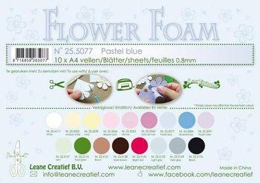 LeCrea - Flower Foam sheets A4 0,8mm pastel blauw