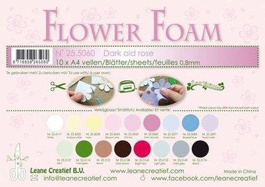 LeCrea - Flower Foam sheets A4 0,8mm donker oudroze