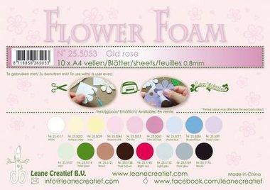 LeCrea - Flower Foam sheets A4 0,8mm oudroze
