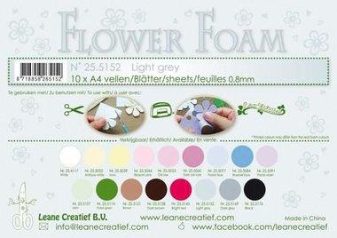 LeCrea - Flower Foam sheets A4 0,8mm lichtgrijs