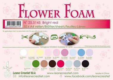 LeCrea - Flower Foam sheets A4 0,8mm licht rood