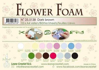 LeCrea - Flower Foam sheets A4 0,8mm donkerbruin