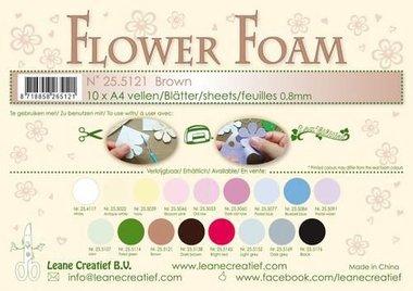 LeCrea - Flower Foam sheets A4 0,8mm bruin