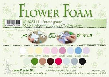 LeCrea - Flower Foam sheets A4 0,8mm forest groen