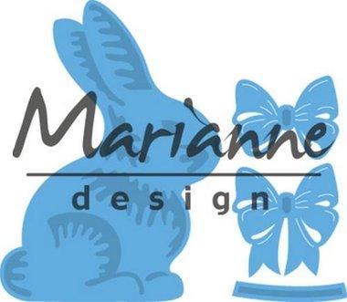 Marianne Design Creatable Easter bunny with bow LR0519