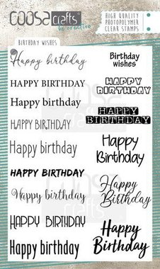 COOSA Crafts clearstamps A6 - Birthday Wishes