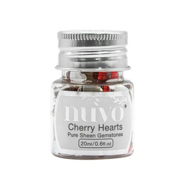 Nuvo Gemstones (ass. sizes) - cherry hearts