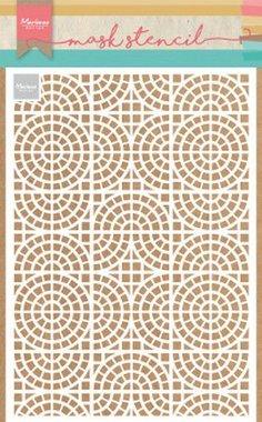Marianne Design Stencil Mozaïektegels PS8035