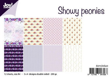 Joy! papierset Showy peonies 6011/0620