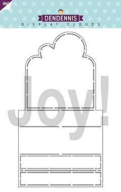 Joy! polybesa stencil Dendennis Display clouds 6002/0887