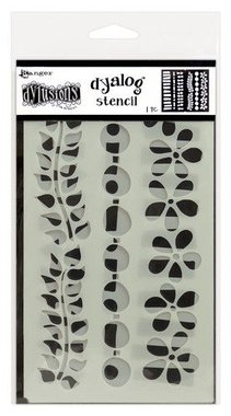 Ranger Dylusions Dyalog Stencil Set Border It