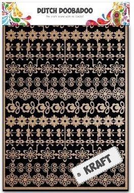 Dutch Doobadoo Dutch Paper Art kraft bloemenrand A5