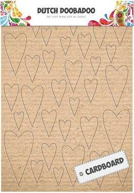 Dutch Doobadoo Dutch Cardboard art harten A5