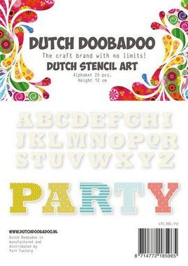 Dutch Doobadoo Dutch Stencil Art Alfabet 4 (120 mm)