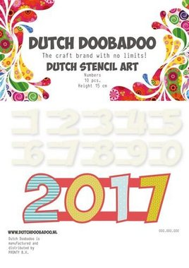 Dutch Doobadoo Dutch Stencil Art Nummers 0-9