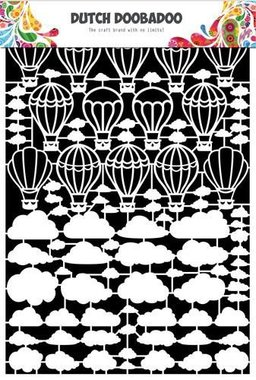 Dutch Doobadoo Dutch Paper Art Luchtballon-wolken A5