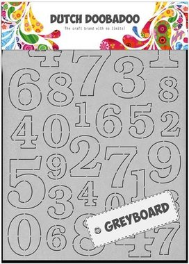 Dutch Doobadoo Dutch Greyboard cijfers A6