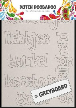 Dutch Doobadoo Dutch Greyboard Art kerst (NL) A6