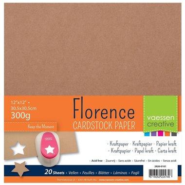 Florence • Kraft papier 30,5x30,5cm 300g
