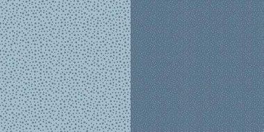 Dini Design Scrappapier Stippen bloemen - Zweeds blauw 30,5x30,5cm