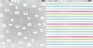 Dini Design Scrappapier Cars & Stripes 30,5x30,5cm