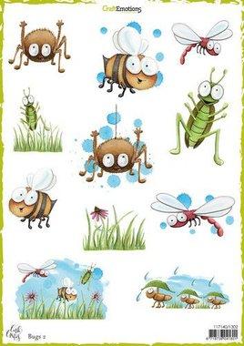 CraftEmotions Decoupage vellen Bugs 2 Carla Creaties