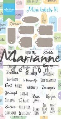 Marianne Design Stamp & Die set Mini labels (NL) CS1028