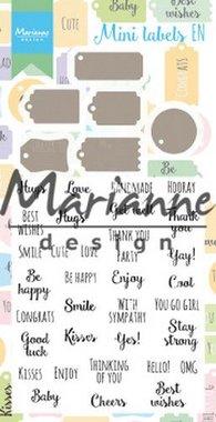 Marianne Design Stamp & Die set Mini labels (Eng) CS1029