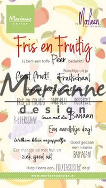 Marianne Design Clear Stamps Marleen's Fris & Fruitig (NL) CS1030