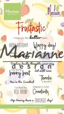 Marianne Design Clear Stamps Marleen's Fruitastic CS1031