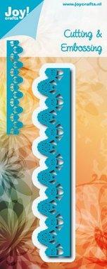 Joy! stencil blauwe bloemrand 6002/0930