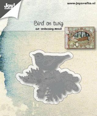 Joy! stencil bird on twig 6002/1182