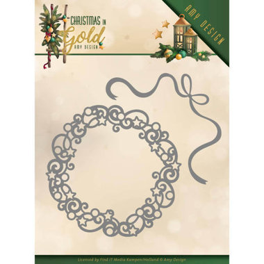 Dies - Amy Design - Christmas in Gold - Christmas Wreath