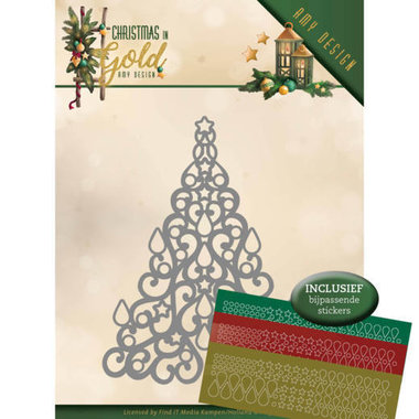Dies - Amy Design - Christmas in Gold - Christmas Tree Hobbydots