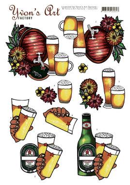 3D Knipvel - Yvon's Art - Beer