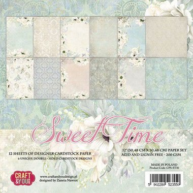 Craft&You Sweet Time BIG Paper Set 12x12 12 vel