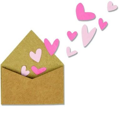 Sizzix Thinlits Die set - 2PK With Love Envelope w/Hearts