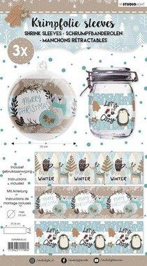 Studio Light krimpfolie 318x93 mm Merry Christmas nr 63