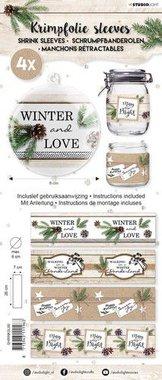 Studio Light krimpfolie 260x70 mm Handlettering Winter and Love nr 60