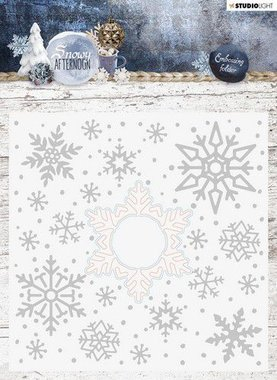 Studio Light Embossing Folder With Die Cut, Snowy Afternoon nr.02