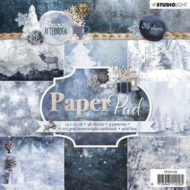 Studio Light Paper pad 36 vel Snowy Afternoon nr.126